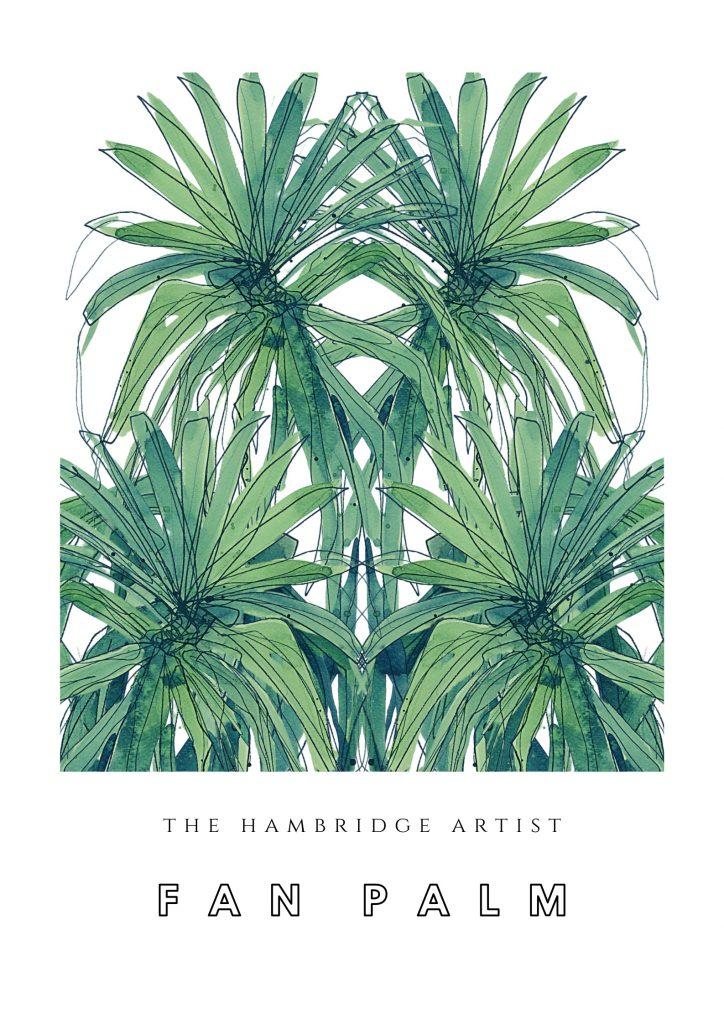 the hambridge artist fan palm print
