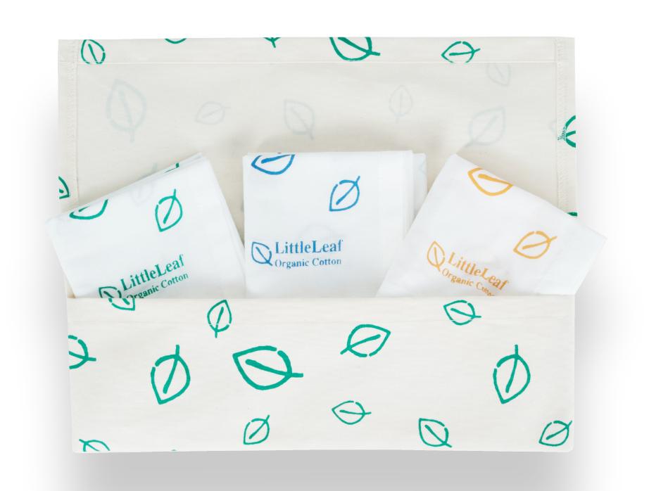 littleleaf organic leaf print organic cotton handkerchiefs