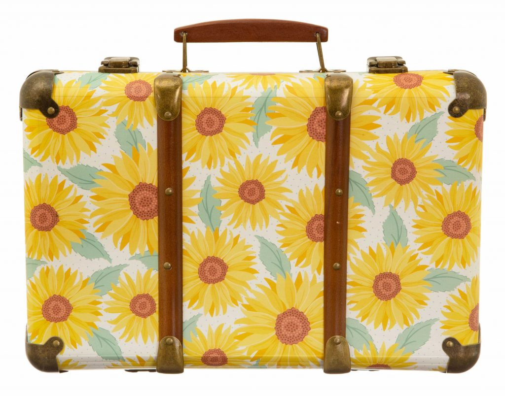 gifts for the home - sasse & belle sunflower suitcase