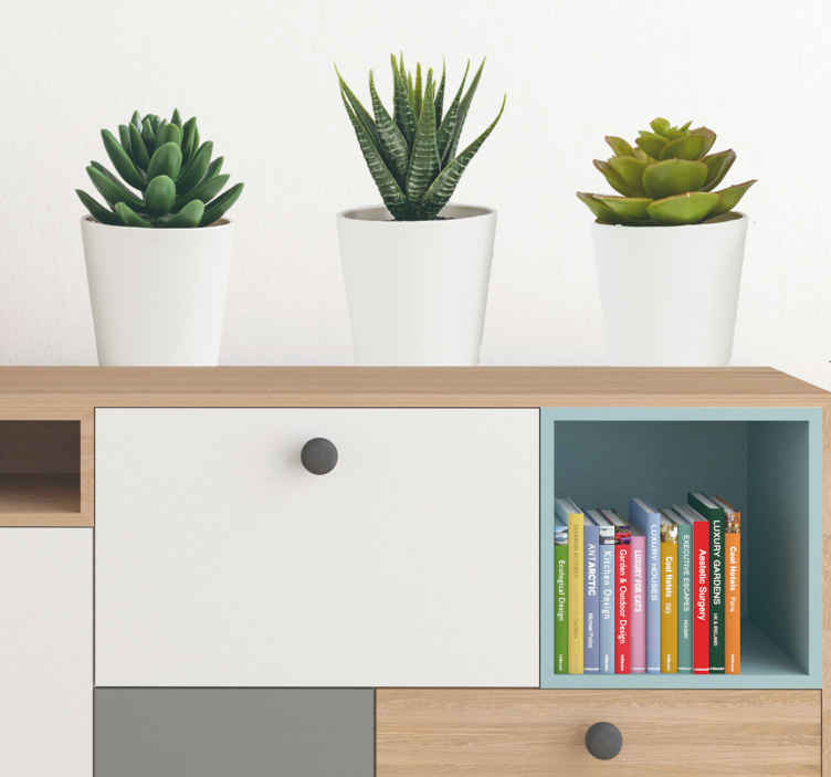 botanical decor - tenstickers 3D cacti wall stickers