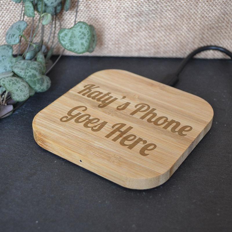 always personal personalised wireless phone charging pad