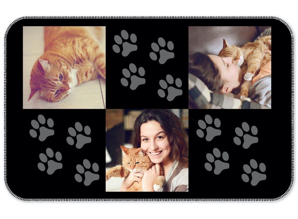 gifts for tweens - asda photo paw prints photo blanket