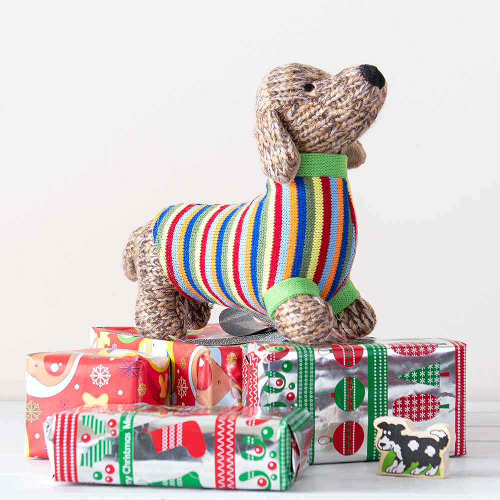 gifts for tweens - best years knitted sausage dog toy