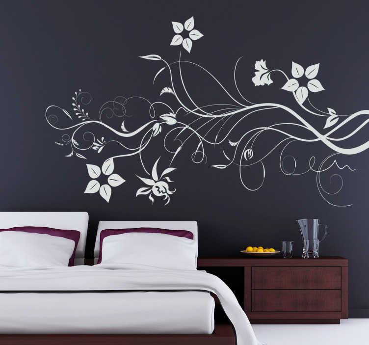 tenstickers branching flowers wall sticker