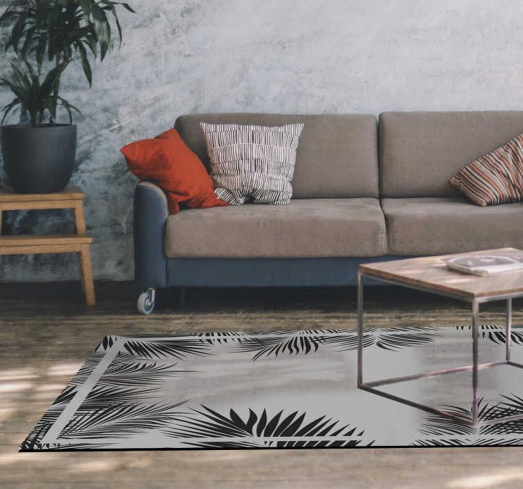 tenstickers fern pattern vinyl rug