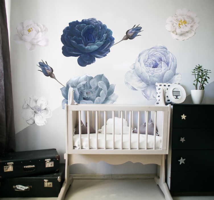 botanical decor - tenstickers flower wall stickers