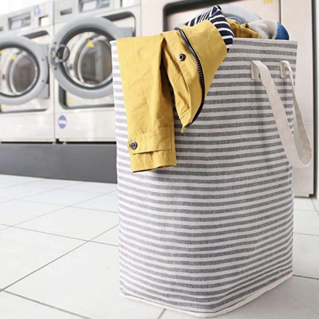 lifewit striped laundry basket