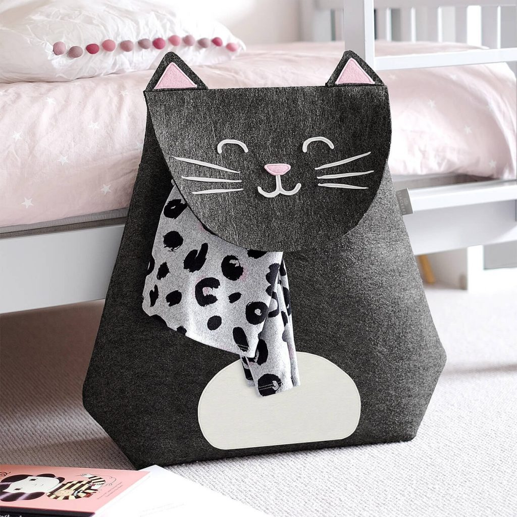 gifts for tweens - red candy chloe the cat laundry basket