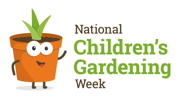 national garden gift voucher - national children's gardening week logo