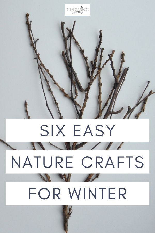 Nature crafts are a great way to get kids outdoors.  Check our these easy crafts for kids that you can do in winter using natural materials.