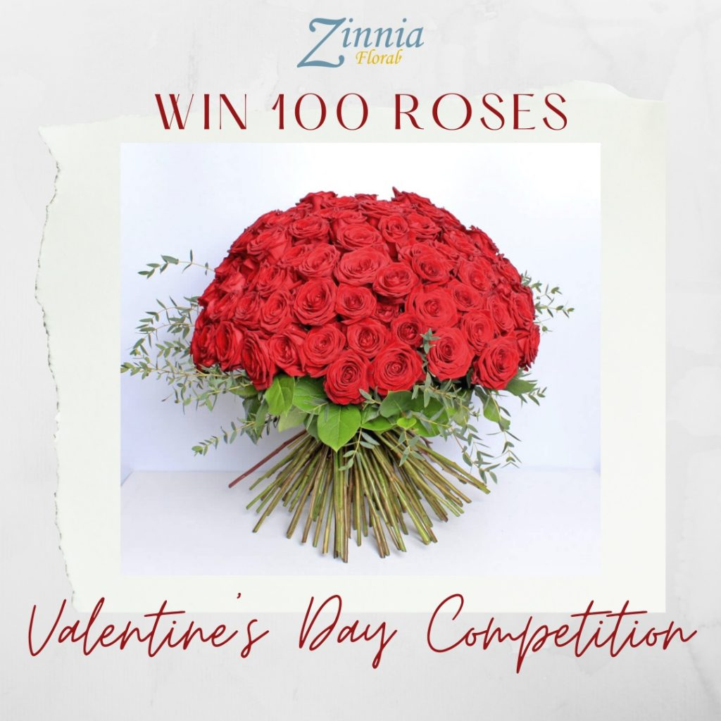 the flower shops zinnia floral valentine's day flower competition