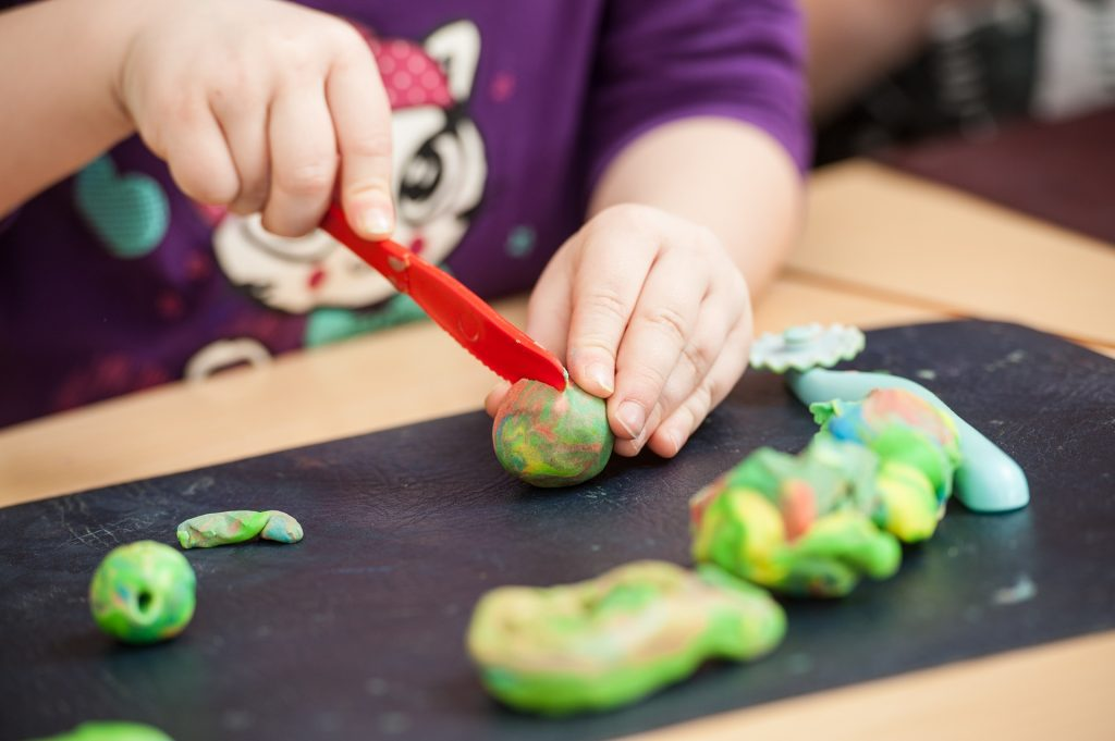 educational projects - playing with modelling clay