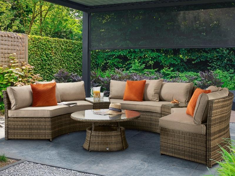 juliet half moon outdoor furniture set