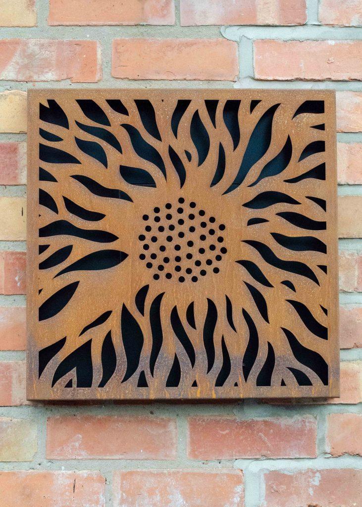 narla abstract flower outdoor artwork