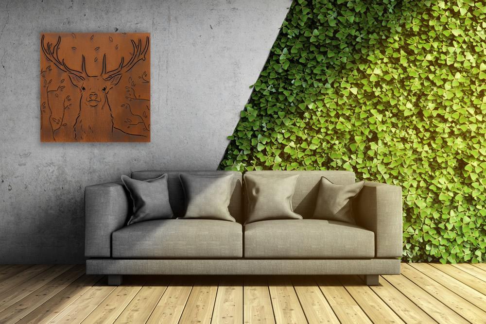Narla contemporary steel outdoor artwork