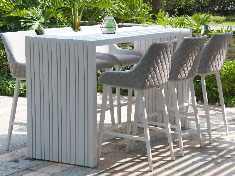 regal 6 seat rectangular bar set outdoor furniture