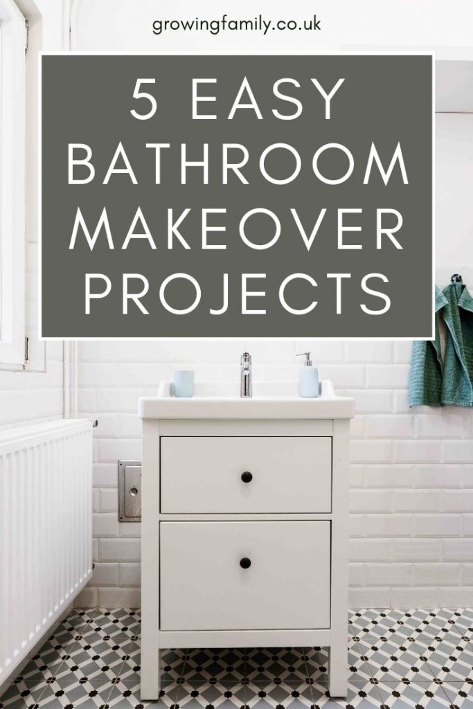 Want to update your bathroom without blowing the budget? These five easy bathroom makeover projects are perfect for a DIY renovation.