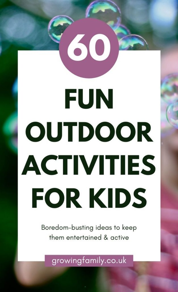 60 easy, fun garden activities for kids. Lots of great ideas for keeping them entertained and active when you're stuck at home.
