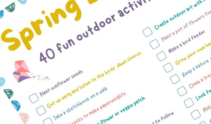 Outdoor activities for kids: free printable spring bucket list