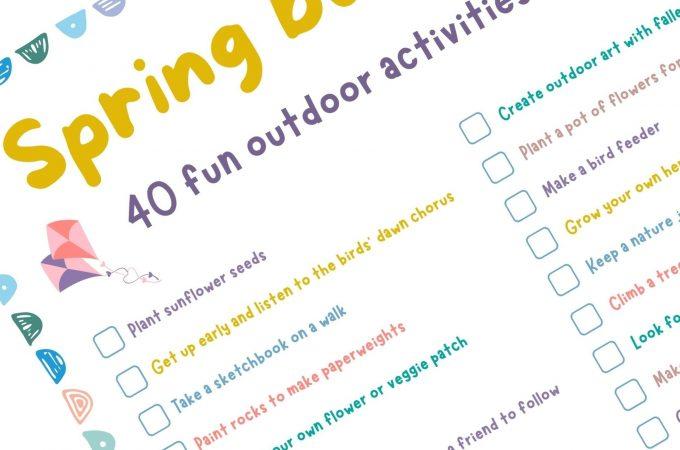 spring bucket list 40 fun outdoor activities for kids