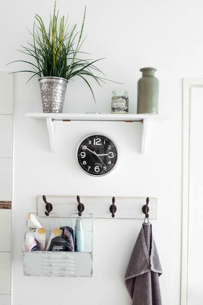 bathroom makeover projects - installing storage