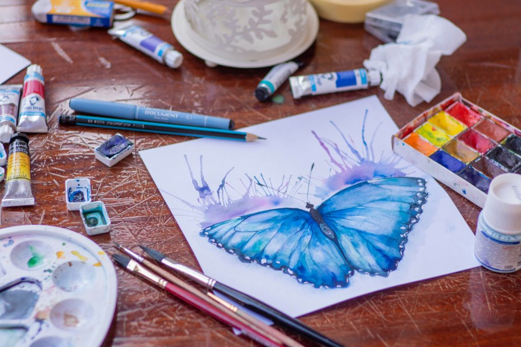 watercolour painting of a butterfly