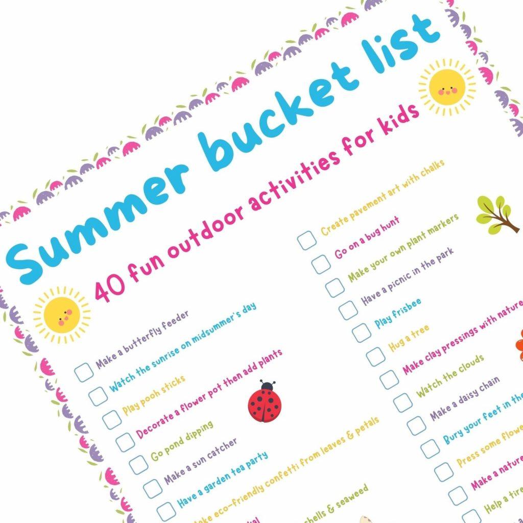 summer bucket list 40 fun kids outdoor activities