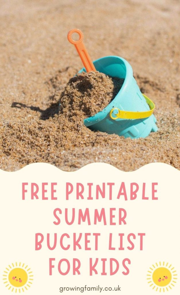 Free printable summer bucket list of 40 fun kids outdoor activities. Lots of great ideas to keep kids active and entertained outside!