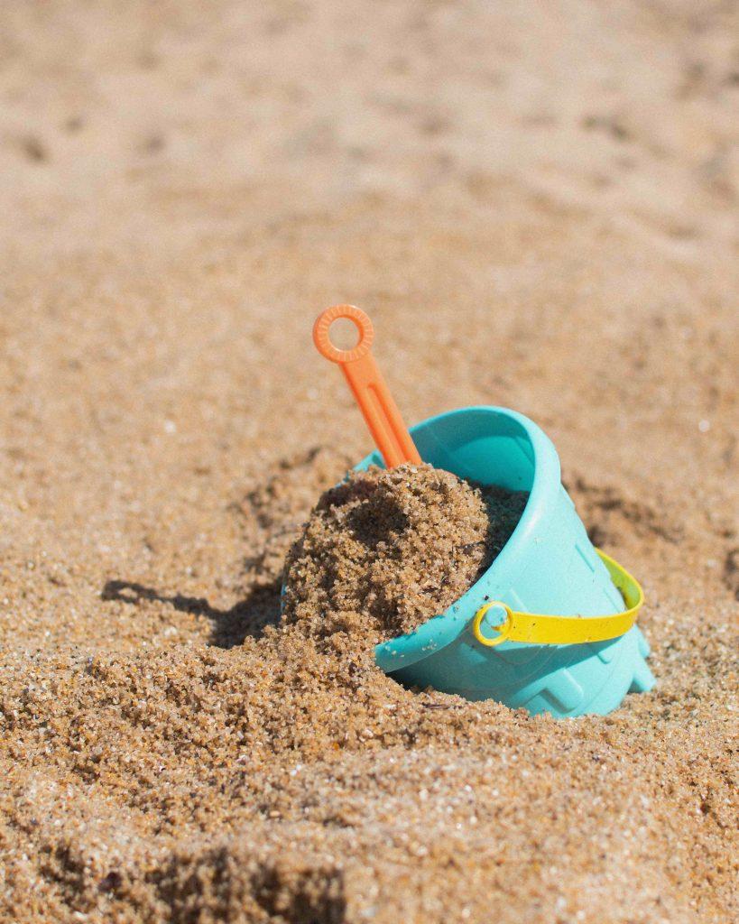 kids outdoor activities for summer - beach with bucket and spade