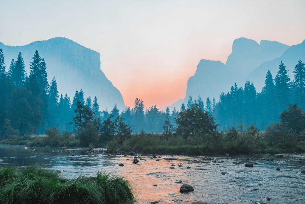 nature images - landscape with river and mountains