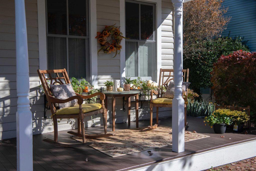 composite decking on a veranda