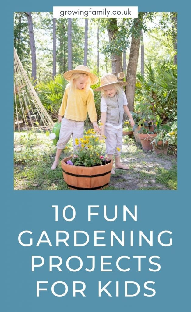 Looking for inspiration on gardening for kids? These ten great projects are perfect for getting kids gardening and having fun.