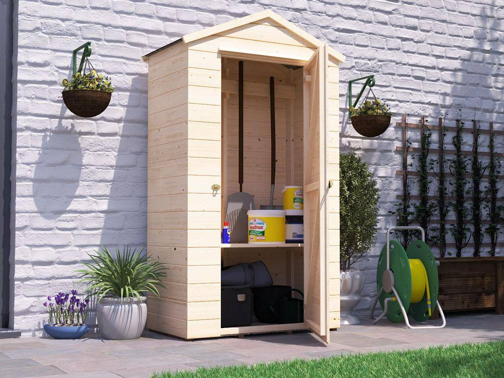 small outdoor tool shed