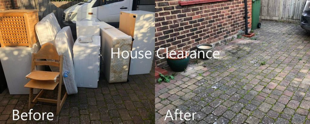 house clearance before and after