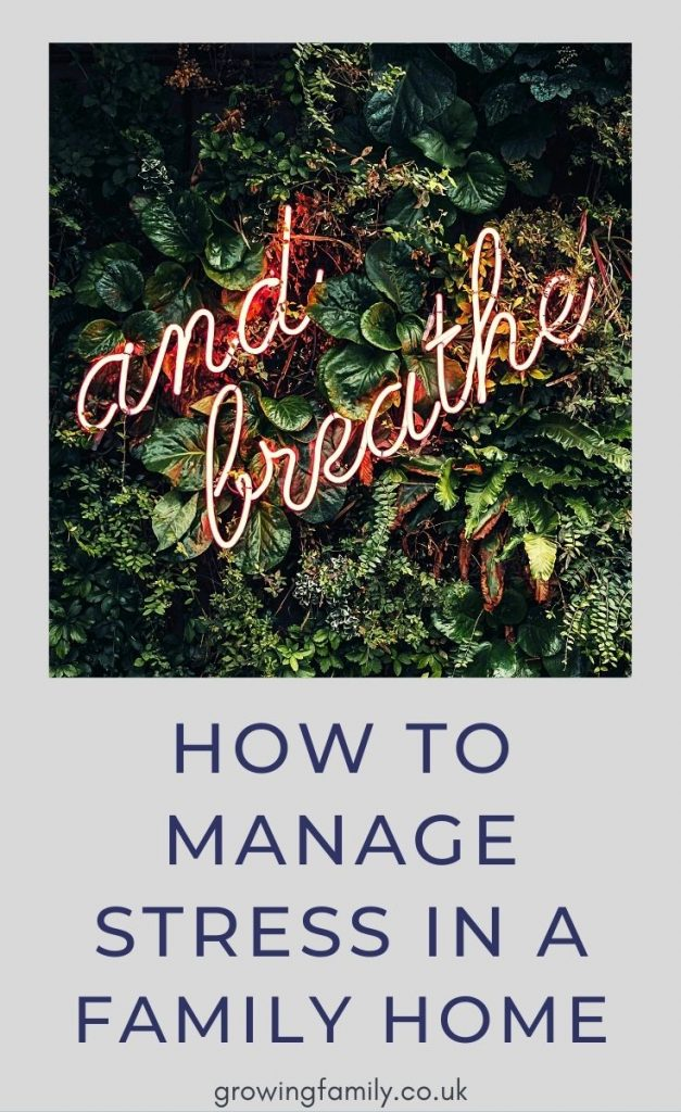Need some help with managing stress in a family home? Here are twelve easy ways to reduce tension and keep everyone happy.