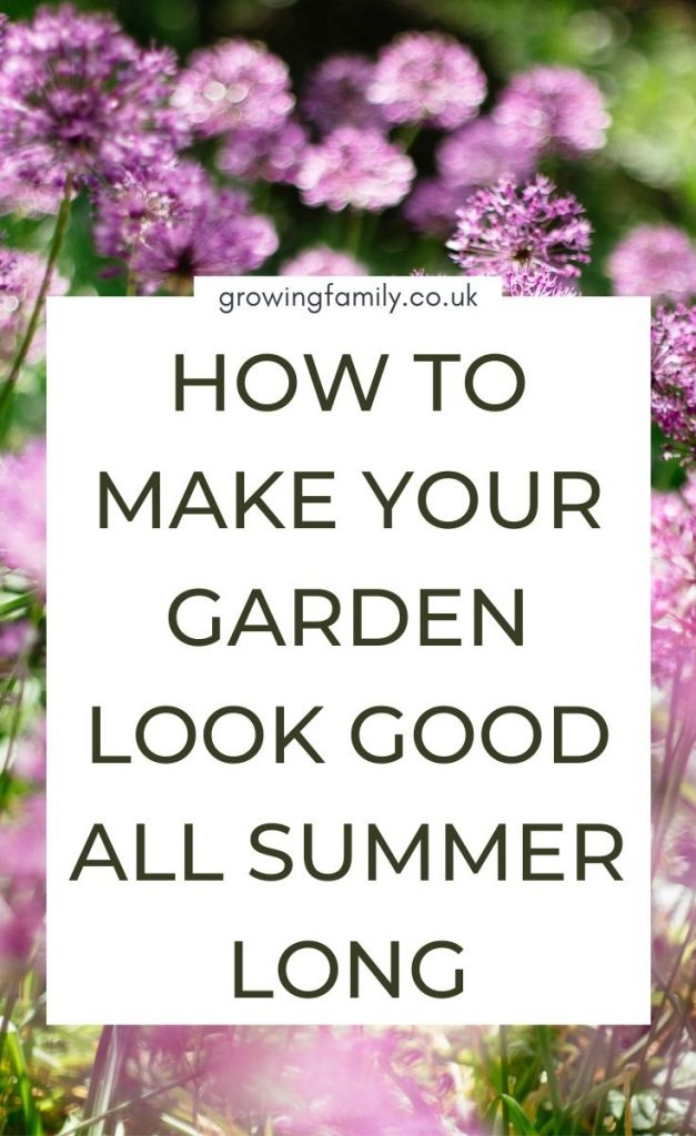 Ten easy summer gardening tips to help you take care of your outdoor space and keep your garden looking good all summer long.