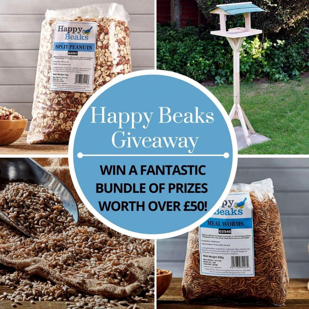 happy beaks bird feeding bundle giveaway graphic