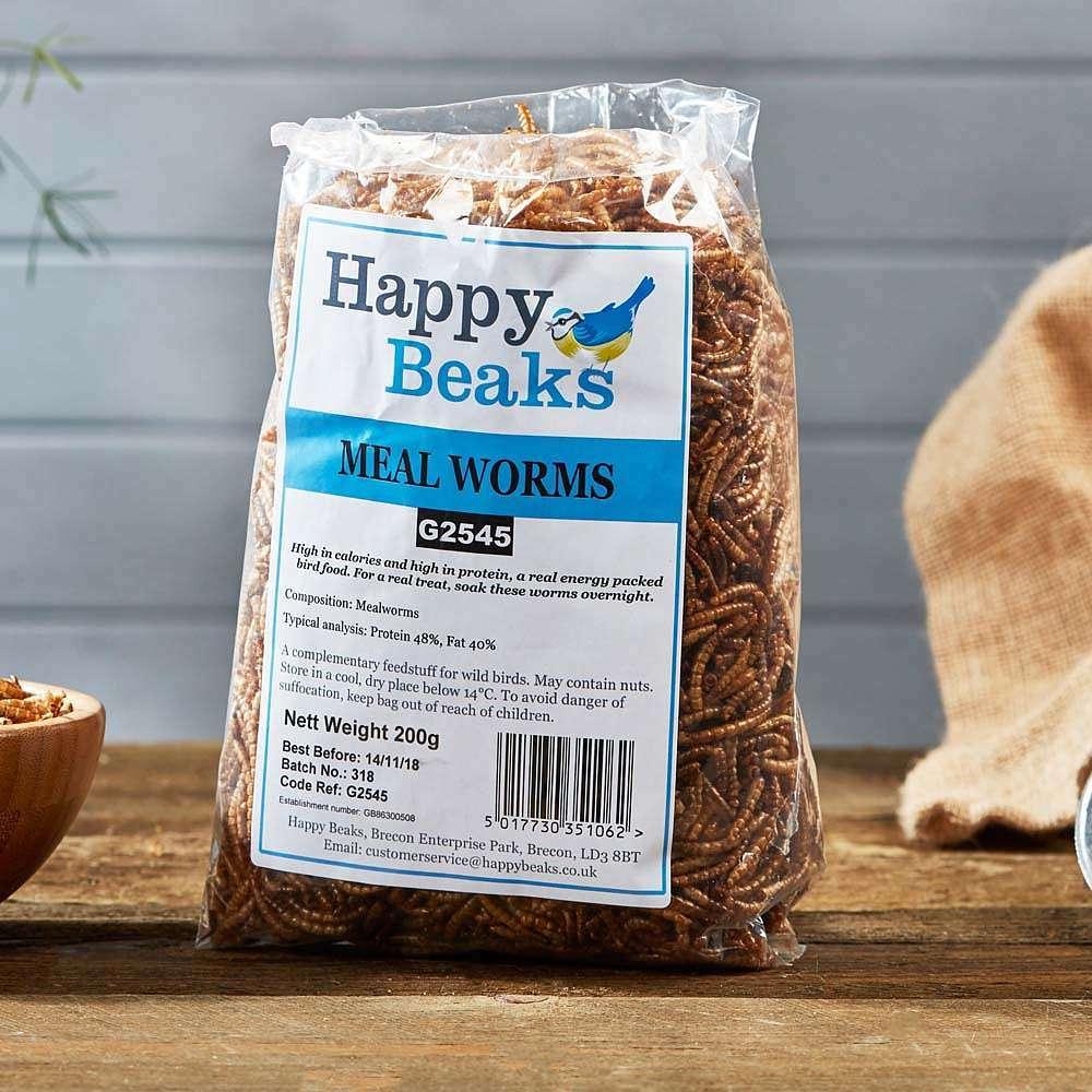 happy beaks meal worms bag
