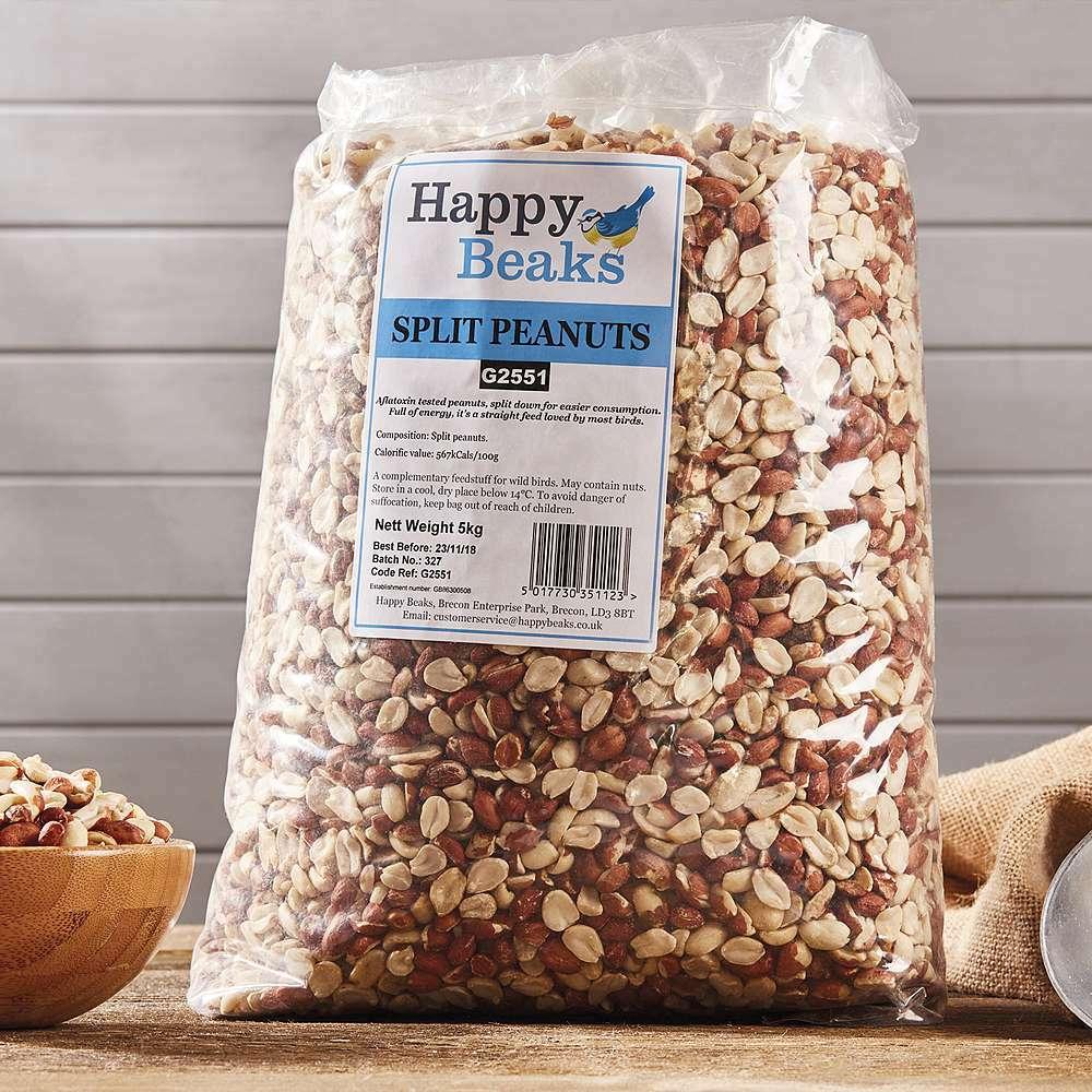 happy beaks split peanuts bag