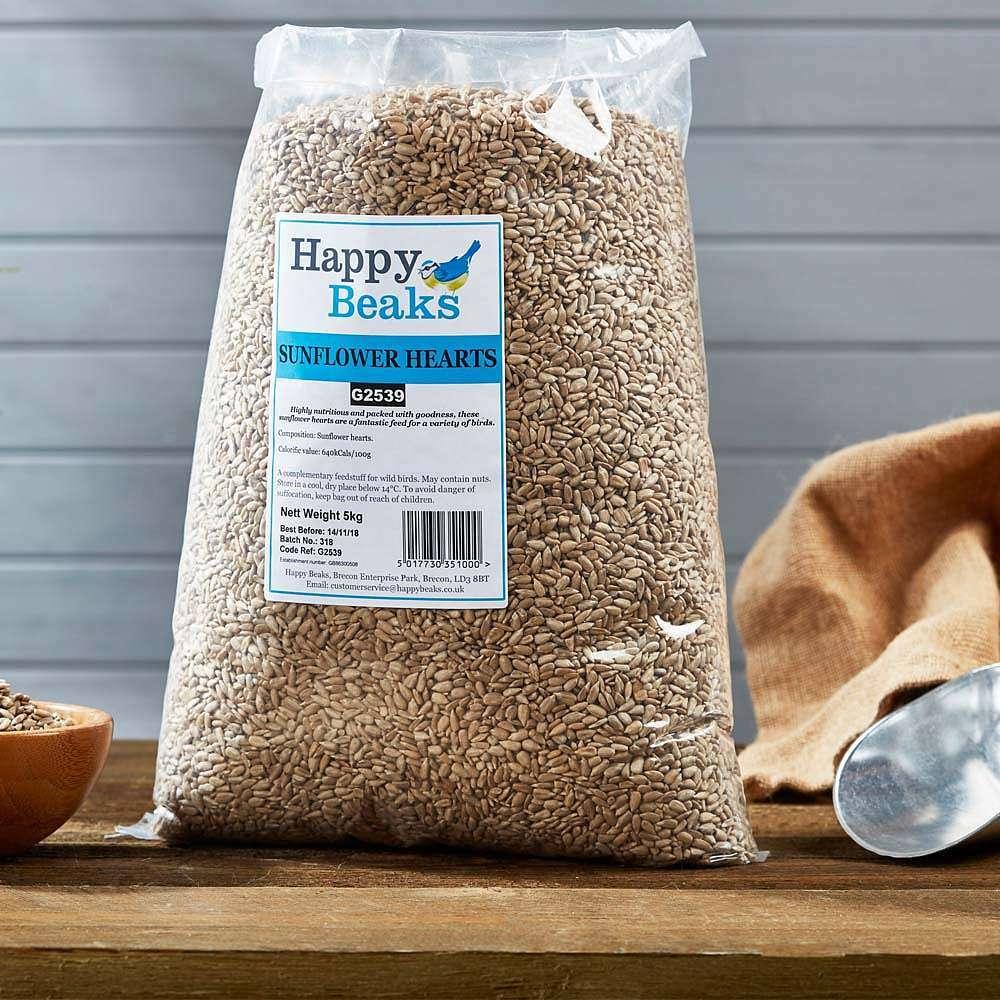 happy beaks sunflower hearts bag