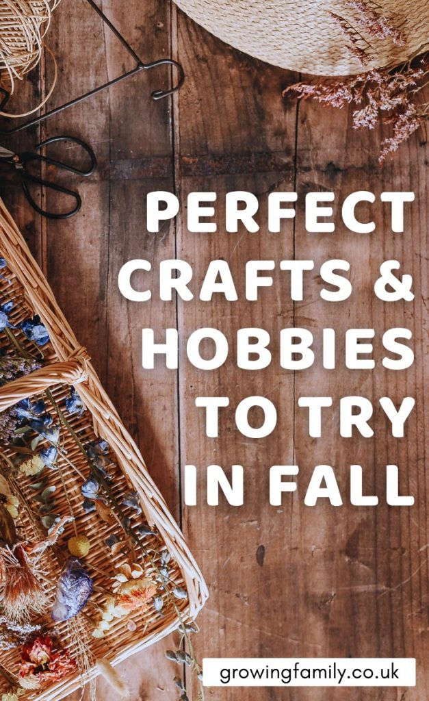 Would you like to explore some new hobbies this season?  Take a look at these fun hobbies and crafts for autumn to get some inspiration.