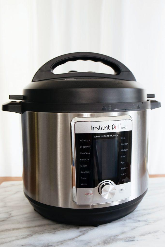 instant pot on kitchen worktop