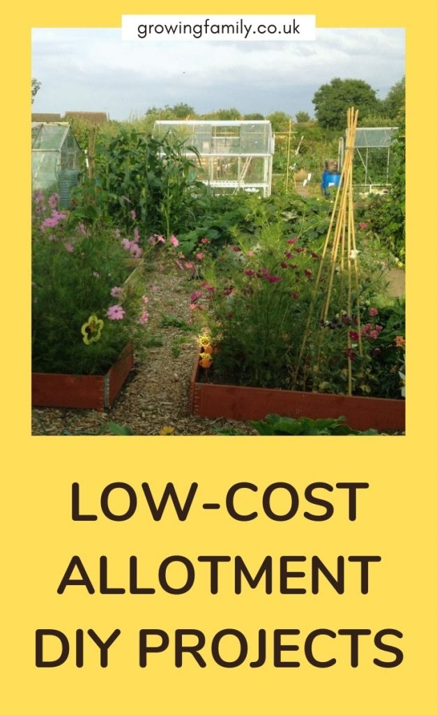 Looking to spruce up your allotment on a budget?  These allotment DIY projects will help you improve your plot without costing a fortune.