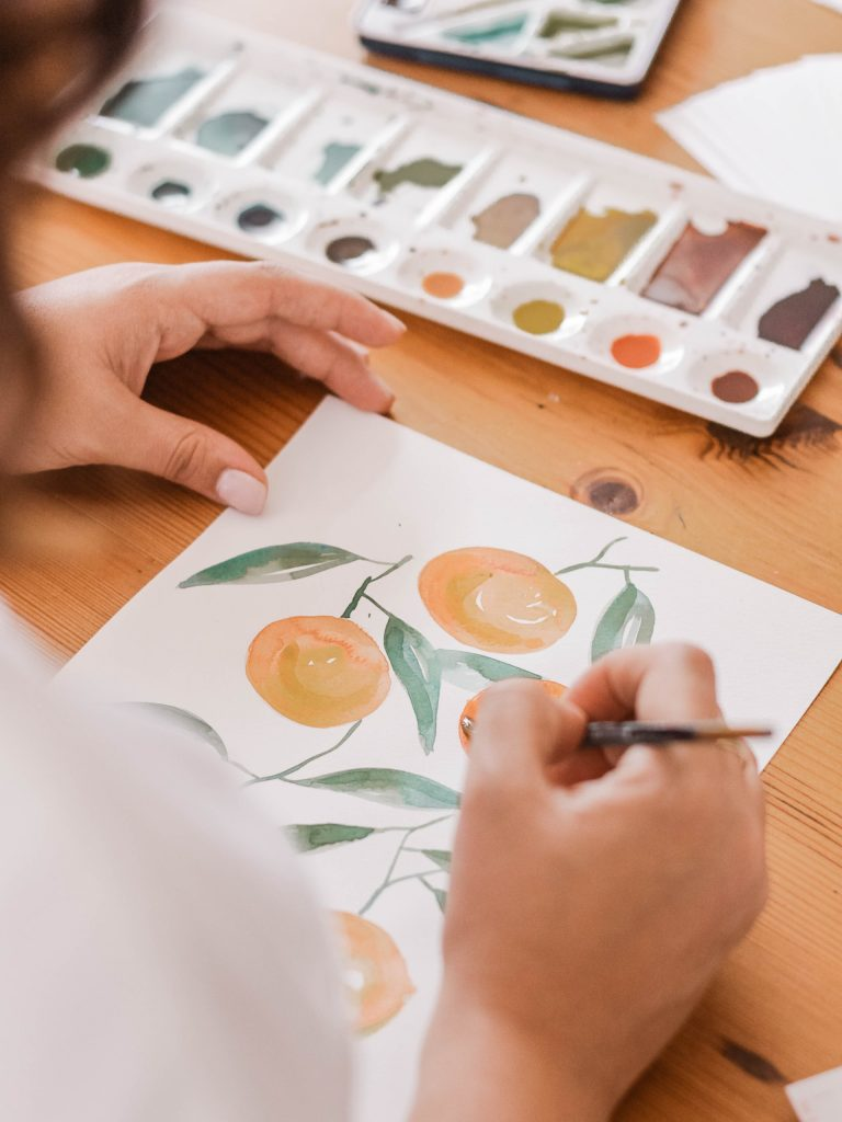 crafts for autumn - watercolour painting