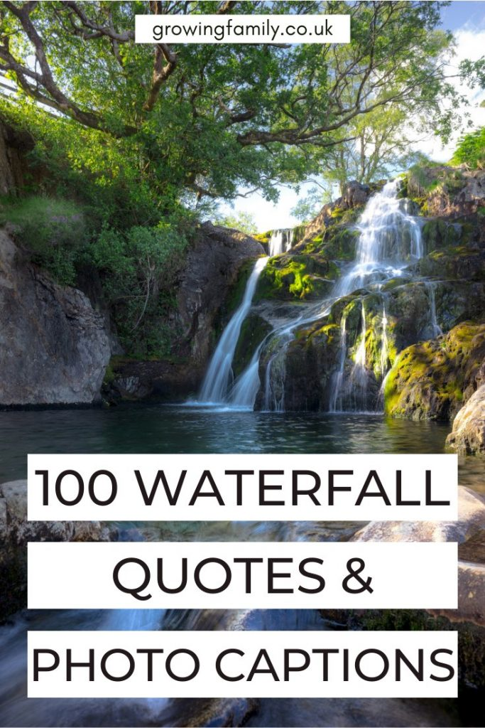 Looking for the best waterfall quotes, or waterfall captions for your photos? This handy list has 100 quotes about falls to inspire you.