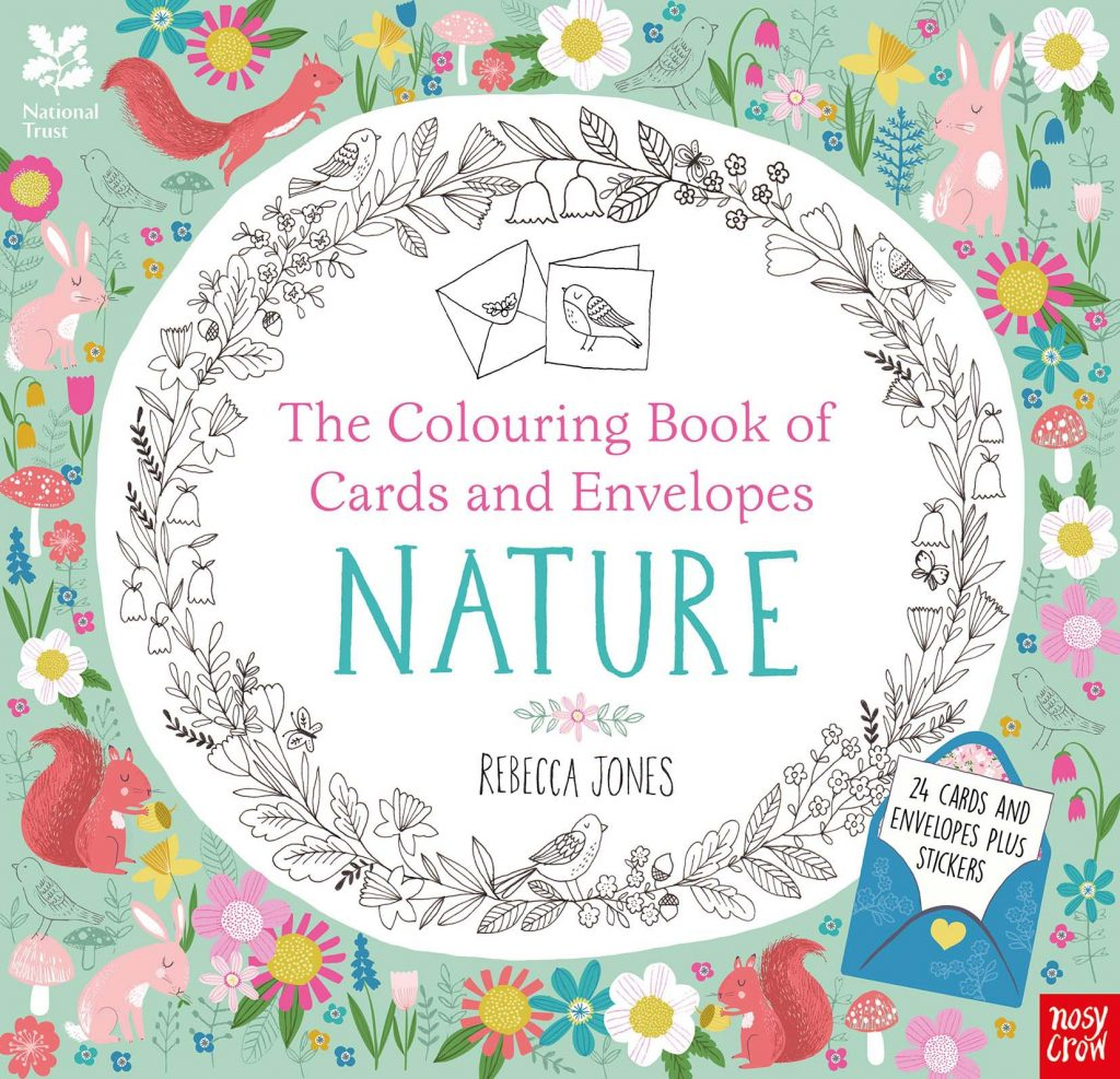 national trust colouring book of cards and envelopes nature